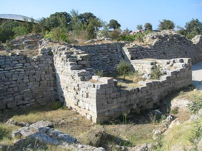 Ruined wall at Troy