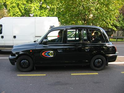 London taxi - they come in all colours these days