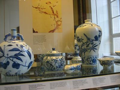 Ming blue and white ware at British Museum