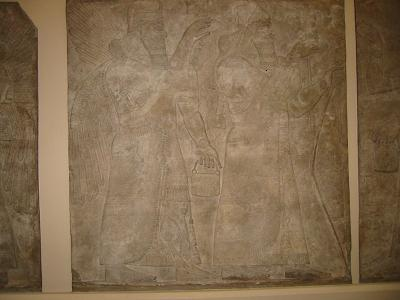 Bas-relief stone wall panel