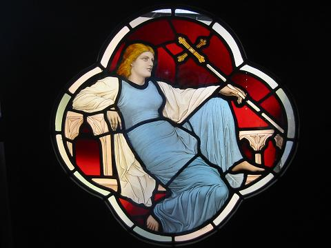 Stained glass window, V & A, London